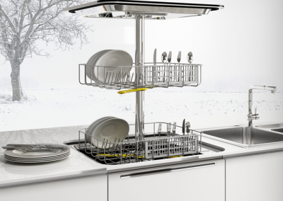 Elevating Dishwasher