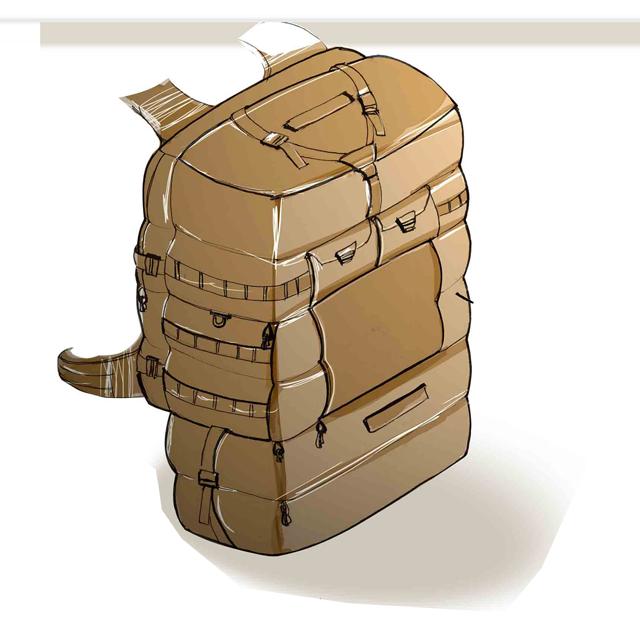 کوله پشتی نظامی برای سربازان پیاده نظام و عملیات ویژه