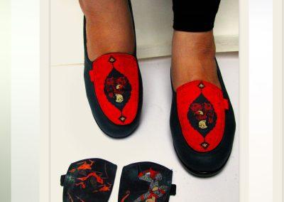 طراحی کفش زنانه با استفاده از نقوش ایرانی و اسلامی