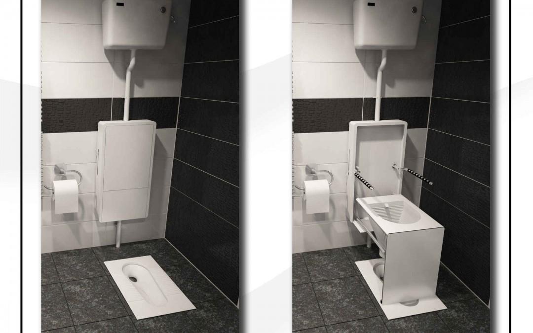 توالت فرنگی کم جا
